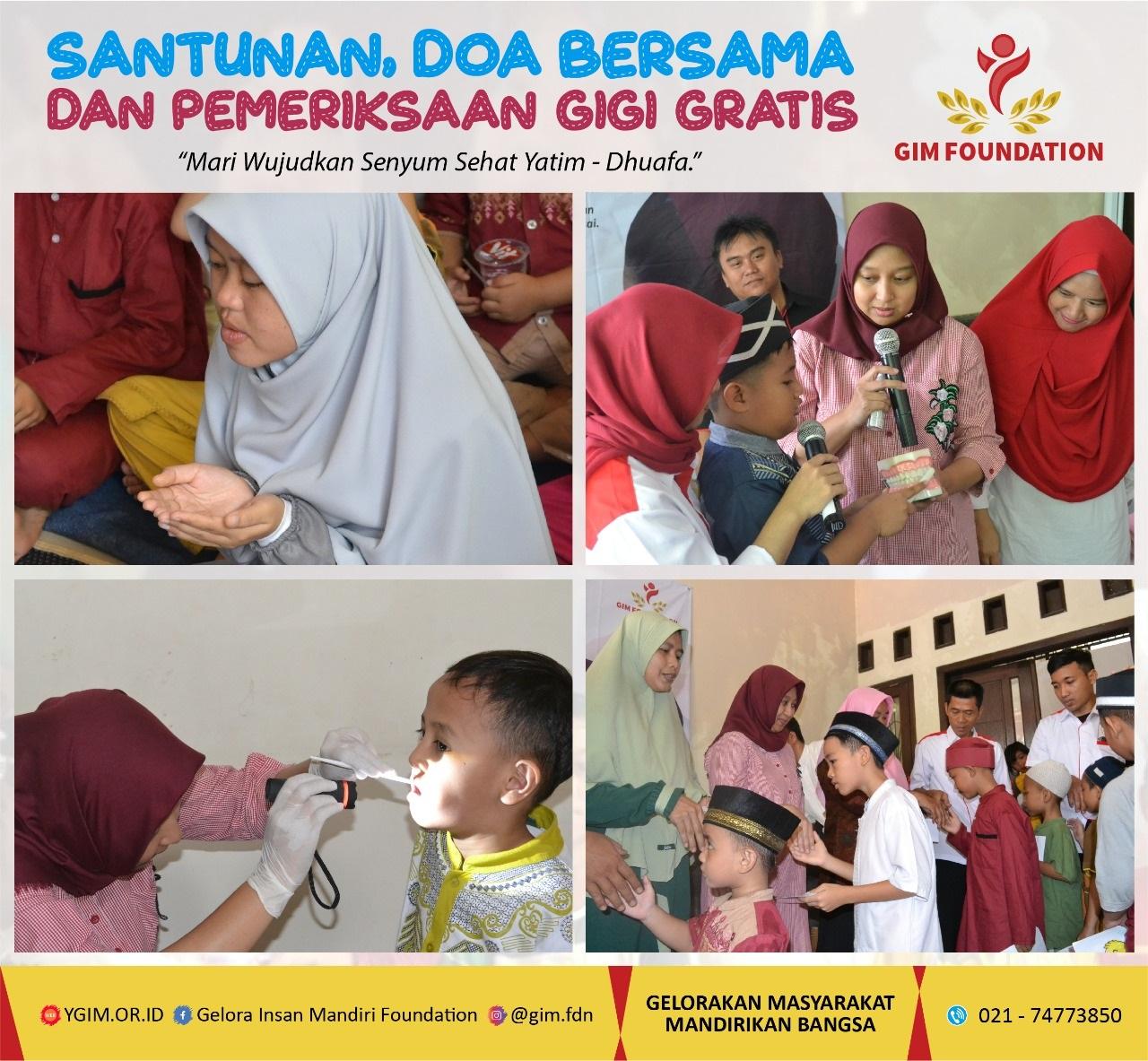 Santunan, Doa Bersama, Dan Pemeriksaan Gigi Gratis di Rumah Tahfidz Al Amanah