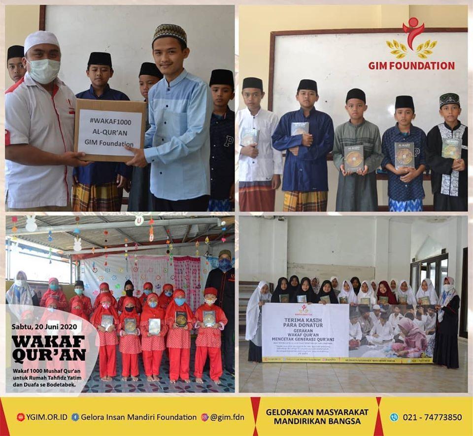 Wakaf 1000 Al-Qur'an Untuk Rumah Tahfidz Dan Pondok Pesantren Se-BODETABEK Tahap I