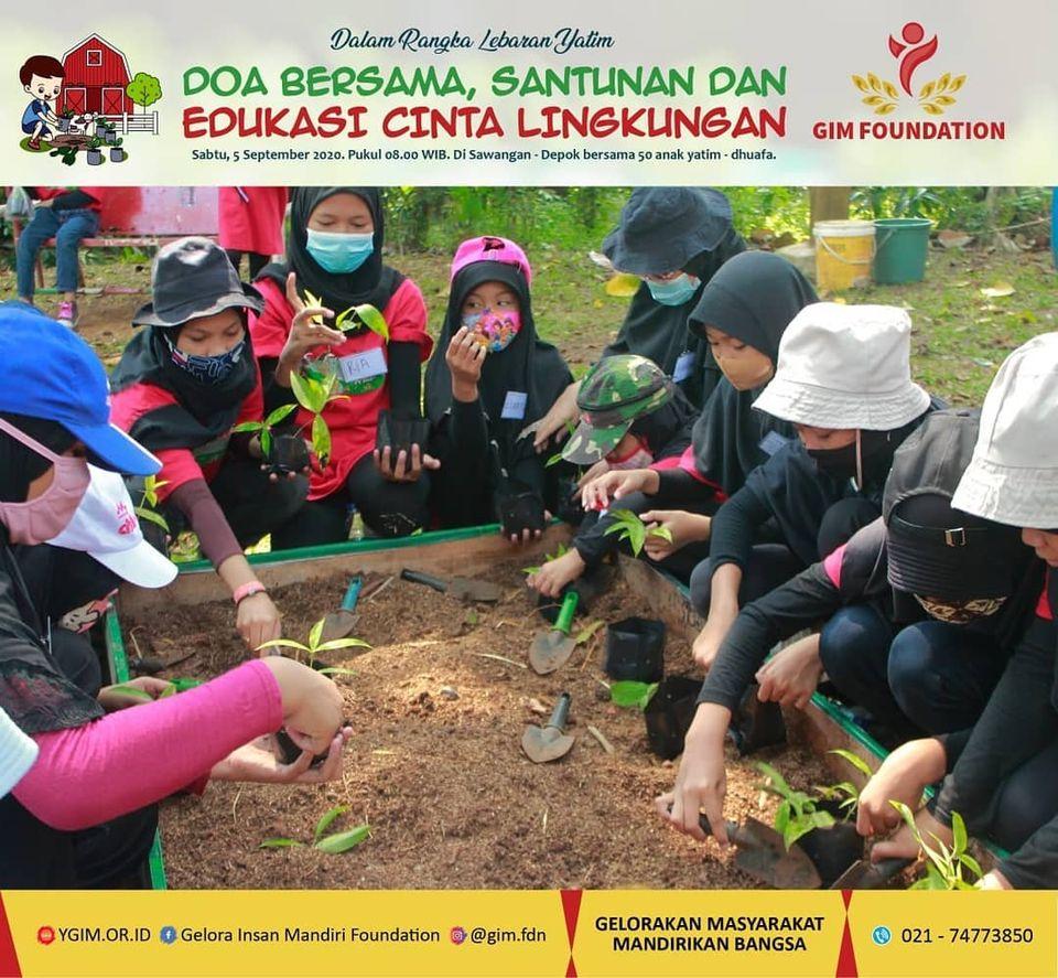 Lebaran Yatim (Santunan, Doa Bersama, dan Edukasi Cinta Lingkungan)