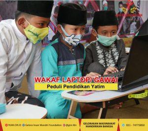 Wakaf Laptop dan Gawai untuk Pendidikan Yatim Duafa tetap sekolah