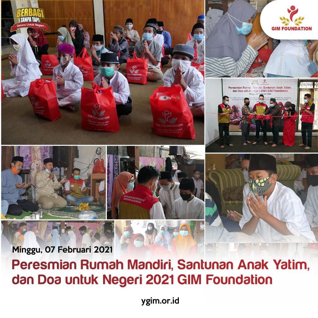 rumah mandiri gim foundation di resmikan 2021